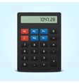 pocket calculator isolated on blue vector image