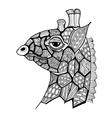doodle of giraffe vector image