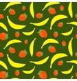 Seamless texture with bananas and strawberries vector image vector image