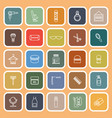 barber line flat icons on orange background vector image