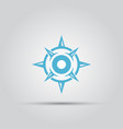 compass isolated abstract icon vector image