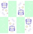 Cute owl seamless background background vector image