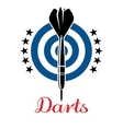 Darts emblem or logo vector image