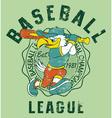 Eagles kids baseball vector image