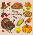 happy thanksgiving day promo vector image