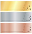 horizontal banners with the letters A B C on gold vector image