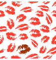 print of lipstick vector image