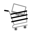 shopping cart online computer digital gray color vector image