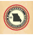 Vintage label-sticker cards of Missouri vector image
