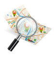 Navigation Search Concept vector image vector image
