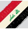 Iraqi grunge flag vector image