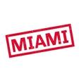 Miami rubber stamp vector image