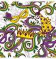 Mardi Gras colorful background vector image