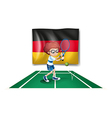 A tennis player with the flag of Germany vector image vector image
