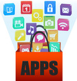 applications in a shopping bag vector image vector image