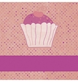 Vintage Cupcakes Card vector image