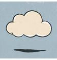 cloud symbol retro vector image vector image