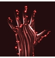Abstract light hand vector image