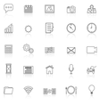 Application line icons with reflect on white vector image
