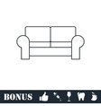 Armchair icon flat vector image