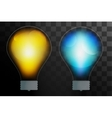 Bulb lamp transparent isolated vector image