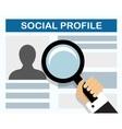check a prospective employee vector image