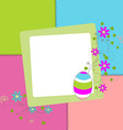 easter colored card vector image