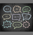hand-drawn speech and thought bubbles hand drawn vector image
