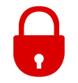isolated padlock vector image