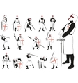 Knight in different poses vector image