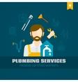 Plumber Flat Icon vector image