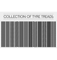 Wheel or tire tyre treads car tracks vector image