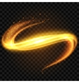 Yellow glowing tail light effect background vector image