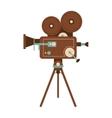 retro film projector icon vector image
