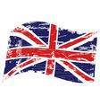 Grunge United Kingdom flag vector image vector image