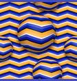 balls moving upwards abstract seamless pattern vector image