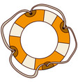 aged flotation hoop with tether vector image