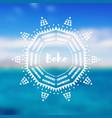 tribal circle ornament round oriental boho motif vector image