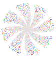 gear fireworks swirl rotation vector image