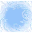 frame background with frost vector image vector image