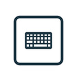 Keyboard icon Rounded squares button vector image