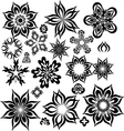abstract flowers for design vector image