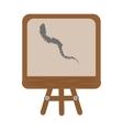 cartoon chalkboard tripod chalk school vector image