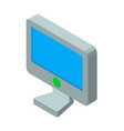computer screen 3d icon vector image