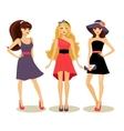 fashion spring girls vector image