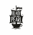 modern professional sign logo cafe black vector image