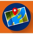 Pin on the map icon vector image