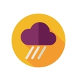 Rain Cloud flat icon Downpour rainfall Weather vector image