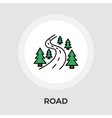 Road flat icon vector image