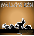 Halloween card with stickers vector image